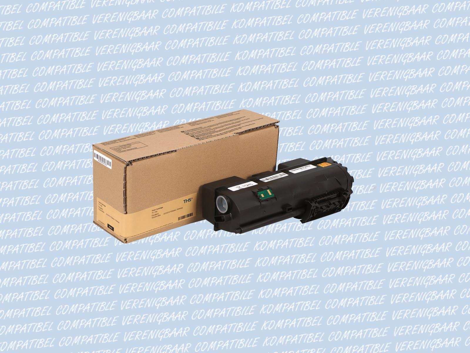 Compatible Toner black Typ: TK-1160 for Kyocera ECOSYS: P2040dn / P2040dw
